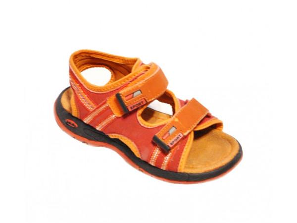 Červenooranžové chlapčenské sandále SPORT