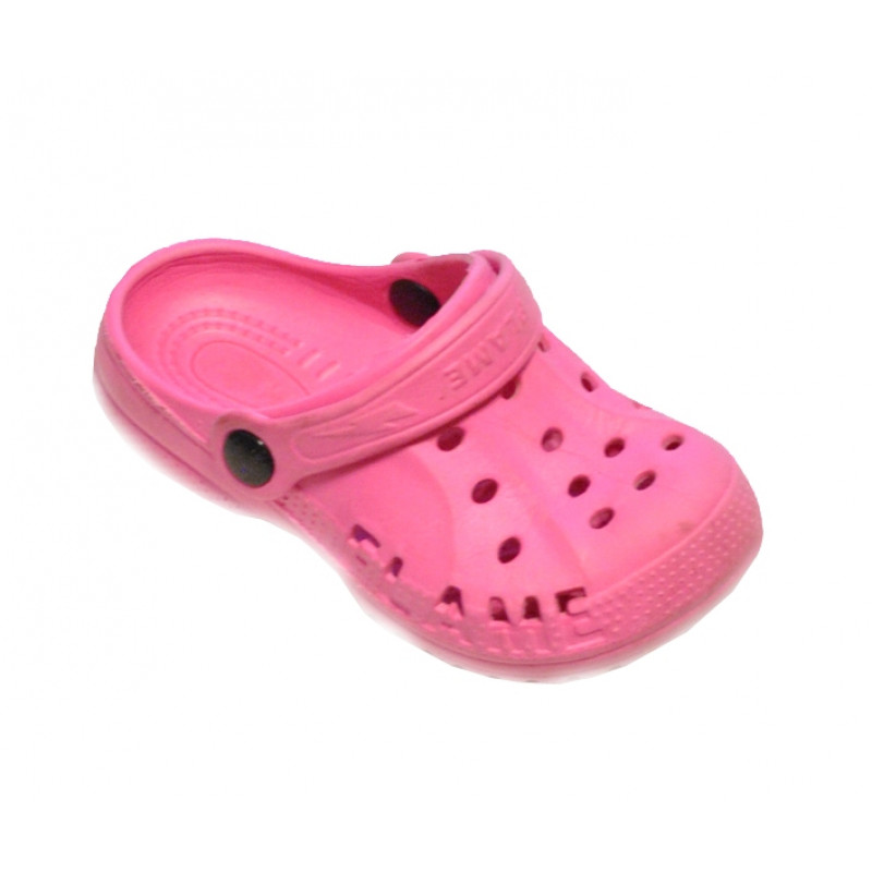 Ružové dievčenské croksy