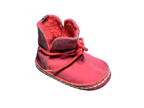 Ružové dievčenské papučky sviazaním