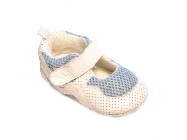 Bielomodré baby papučky mini