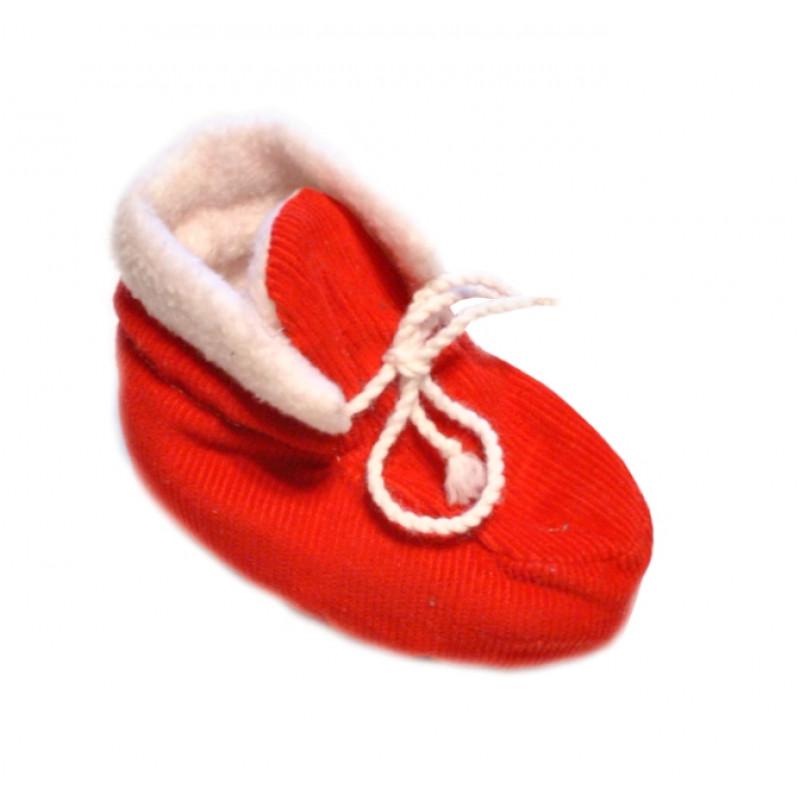 Červené baby papučky