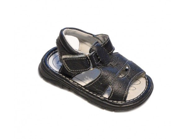 Čierne sandálky chlapčenské HOILNA
