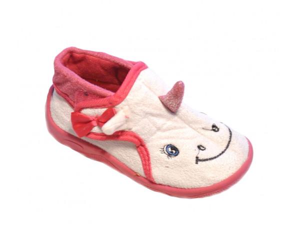 Bieloružové domáce papučky