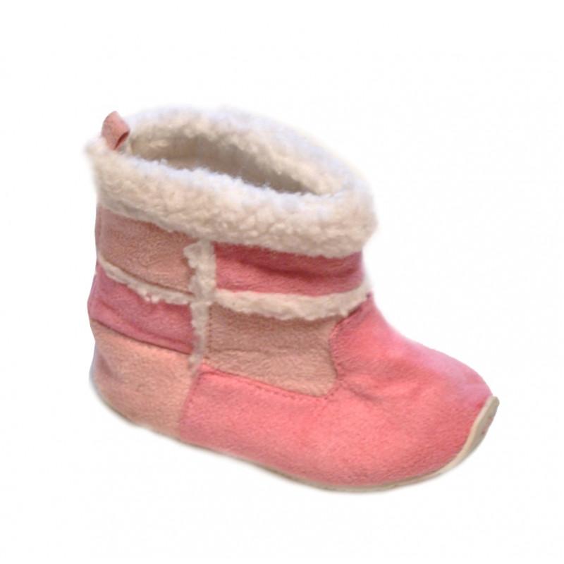 Ružové oteplené baby topánky mini