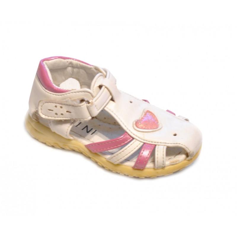 Bielo ružové dievčenské sandálky MEINI
