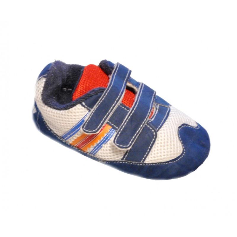 Modrobiele baby papučky chlapčenské BOBAS