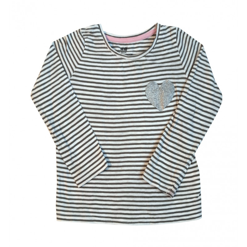 Dievčenské tričko H&M biele