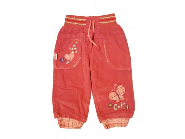 Dievčenské menčestrové nohavice MINI A