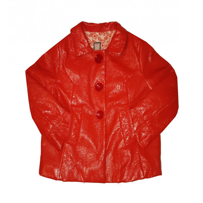Červený dievčenský kabátik ZARA