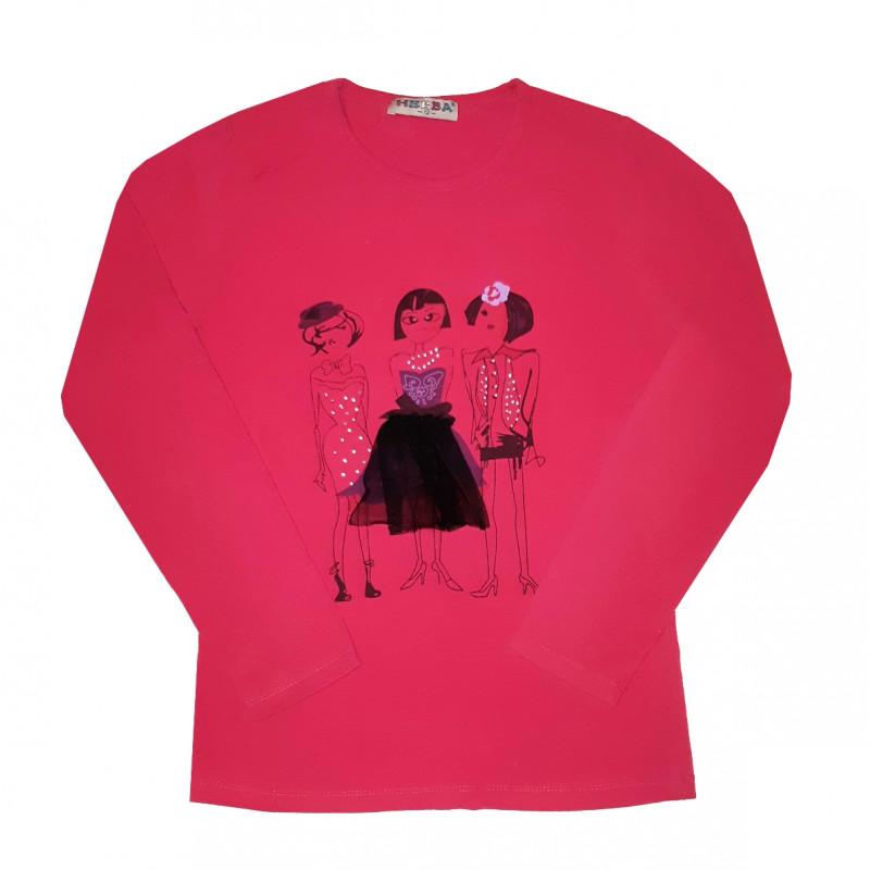 Dievčenské ružové tričko HERBA