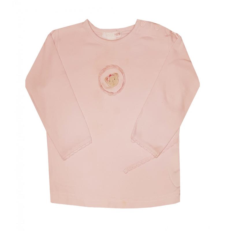 Dievčenské ružové tričko HM