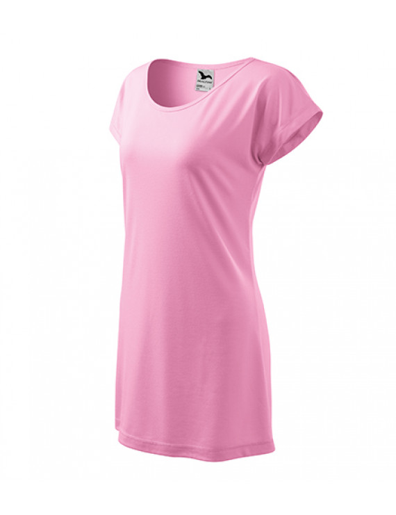 Dámske Tričkové Šaty Love ružová