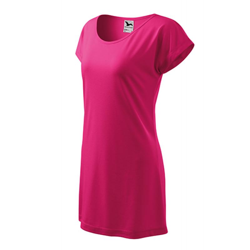 Dámske Tričkové Šaty Love purpurová