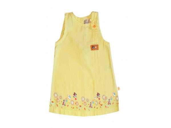 Dievčenské žlté šaty