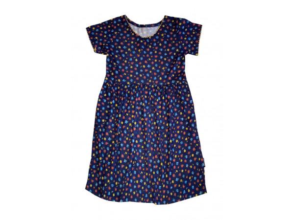 Dievčenské tmavo modré šaty