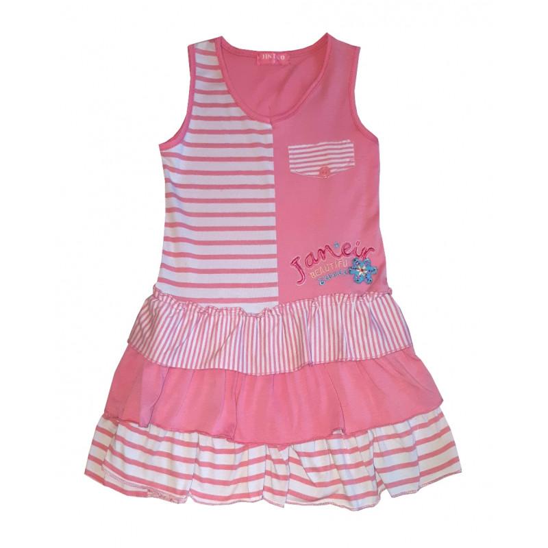 Dievčenské ružové šaty