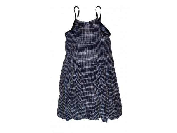 Dievčenské šaty, tmavomodré