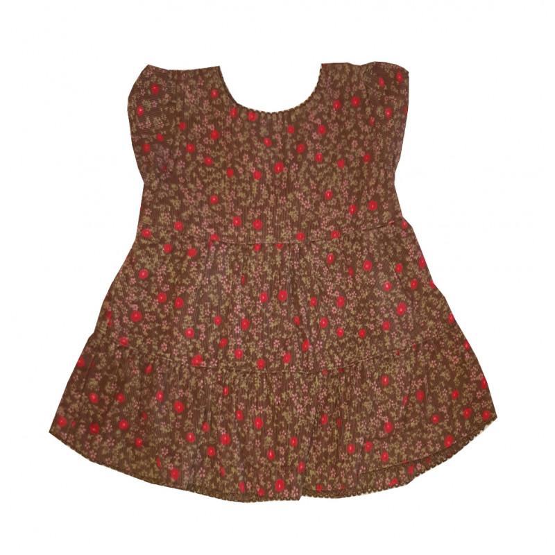 Dievčenské šaty, hnedé