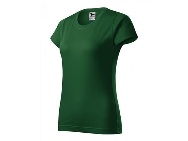 Dámske Tričko Basic fľaškovo zelená