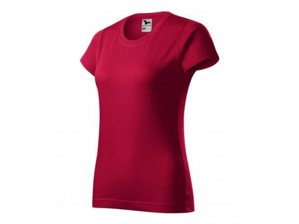 Dámske Tričko Basic tmavočervená