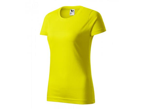 Dámske Tričko Basic citrónová