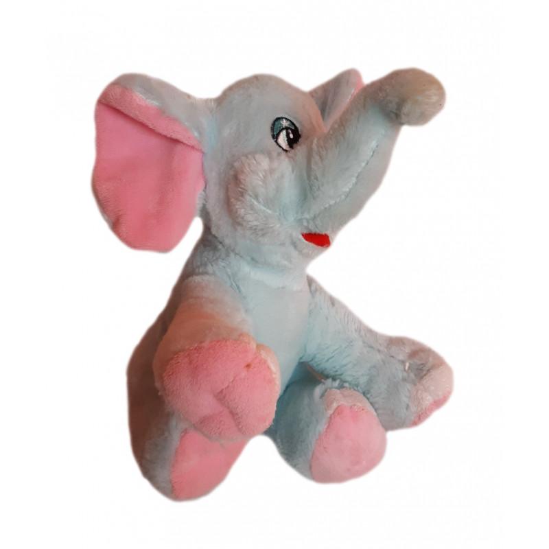 Modrý plyšový sloník