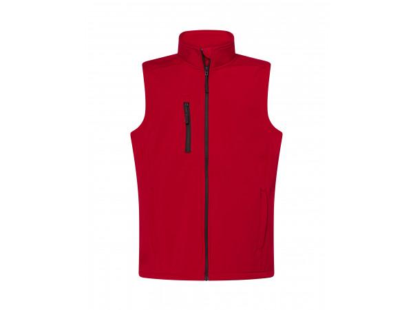 Pánska softshellová vesta červená red
