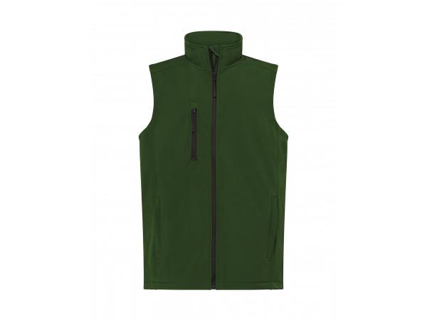 Pánska softshellová vesta zelená