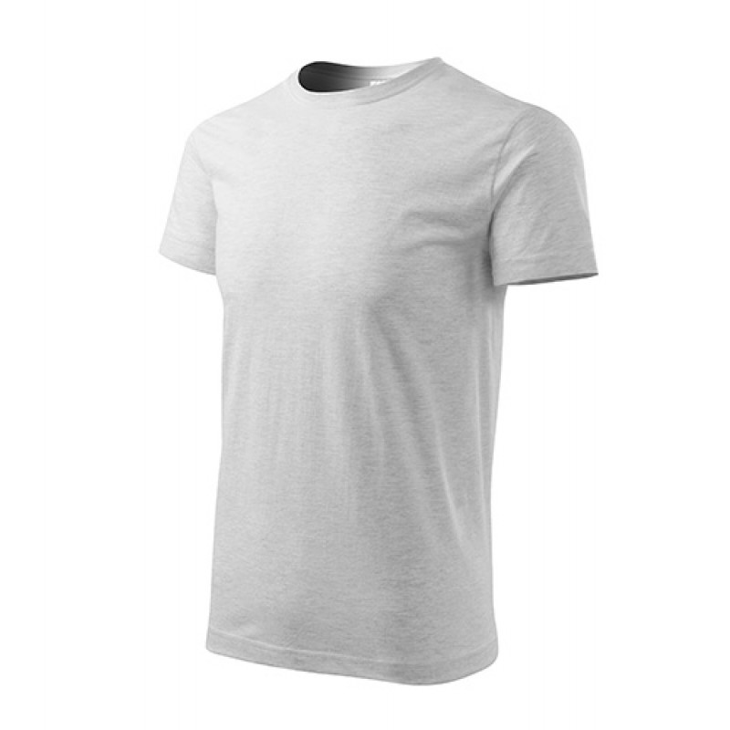 Unisex Tričko Heavy New svetlosivá
