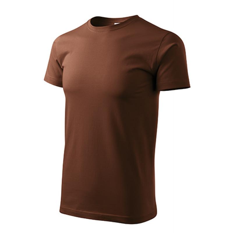 Unisex Tričko Heavy New čokoládová