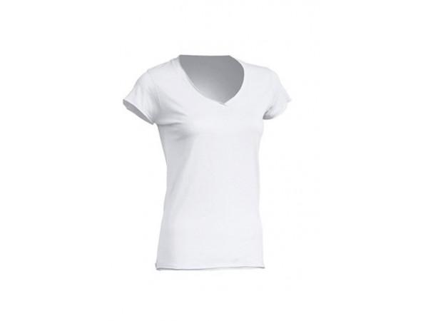 Dámske tričko biele V-neck