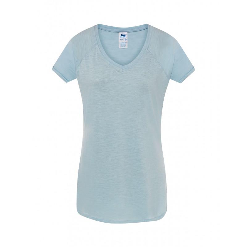 Dámske tričko nebeská modrá Vneck