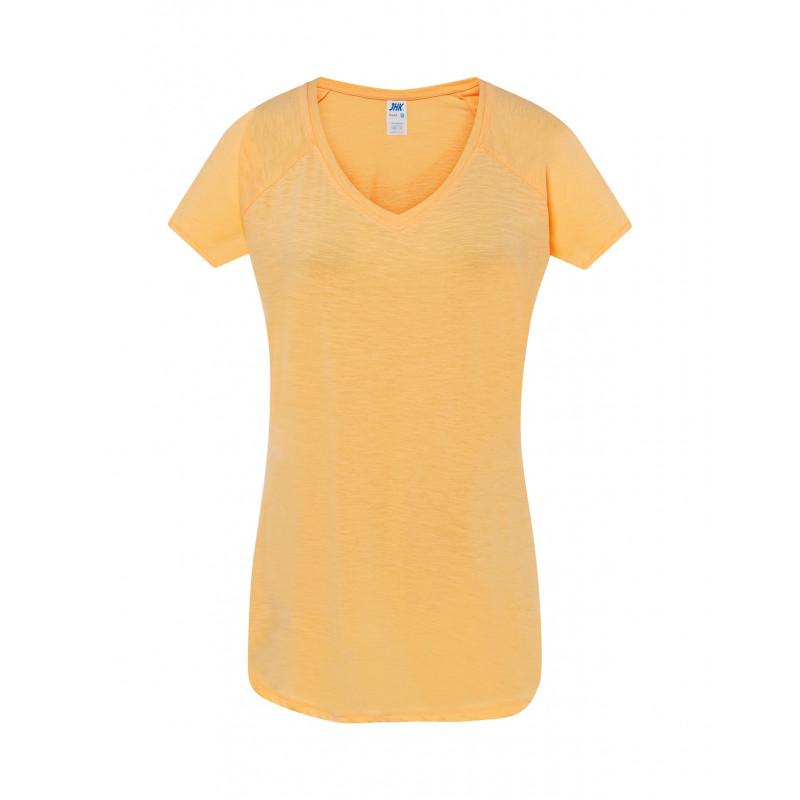Dámske tričko neónová oranžová Vneck