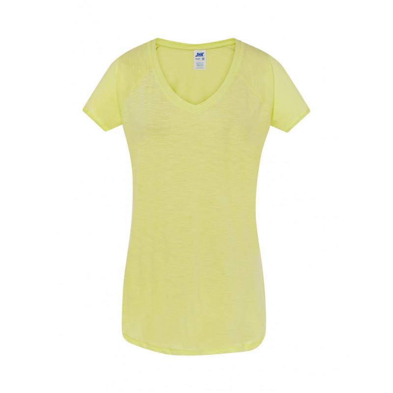 Dámske tričko neónová svetlo žltá