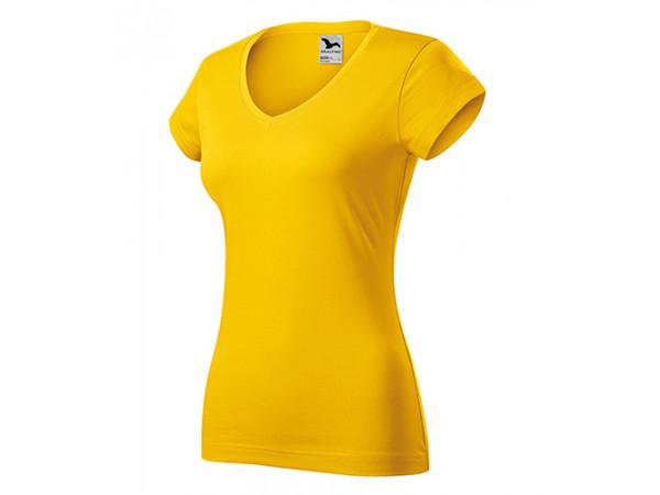 Dámske Tričko Fit V-Neck žltá