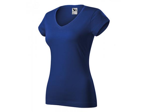 Dámske Tričko Fit V-Neck kráľovská modrá