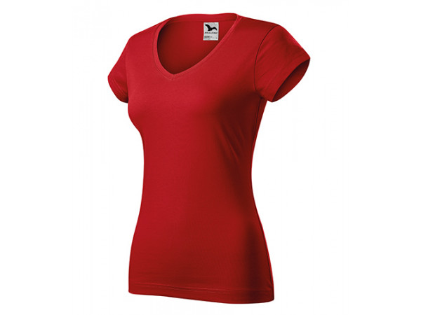 Dámske Tričko Fit V-Neck červená