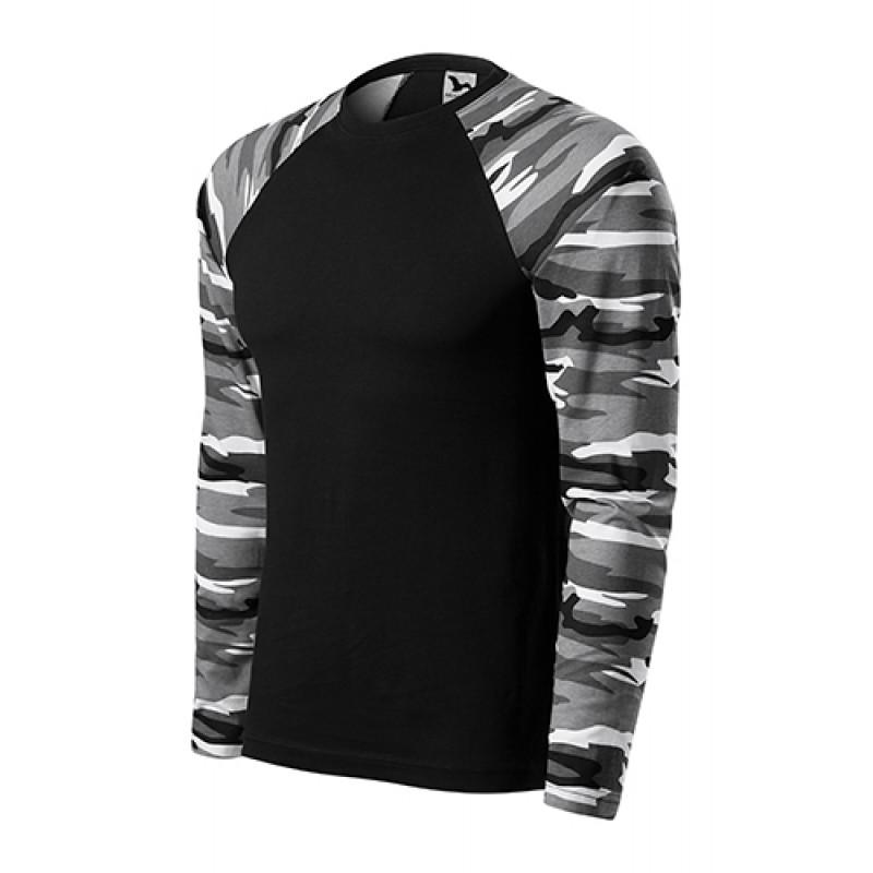 Unisex Tričko CAMOUFLAGE LS sivá