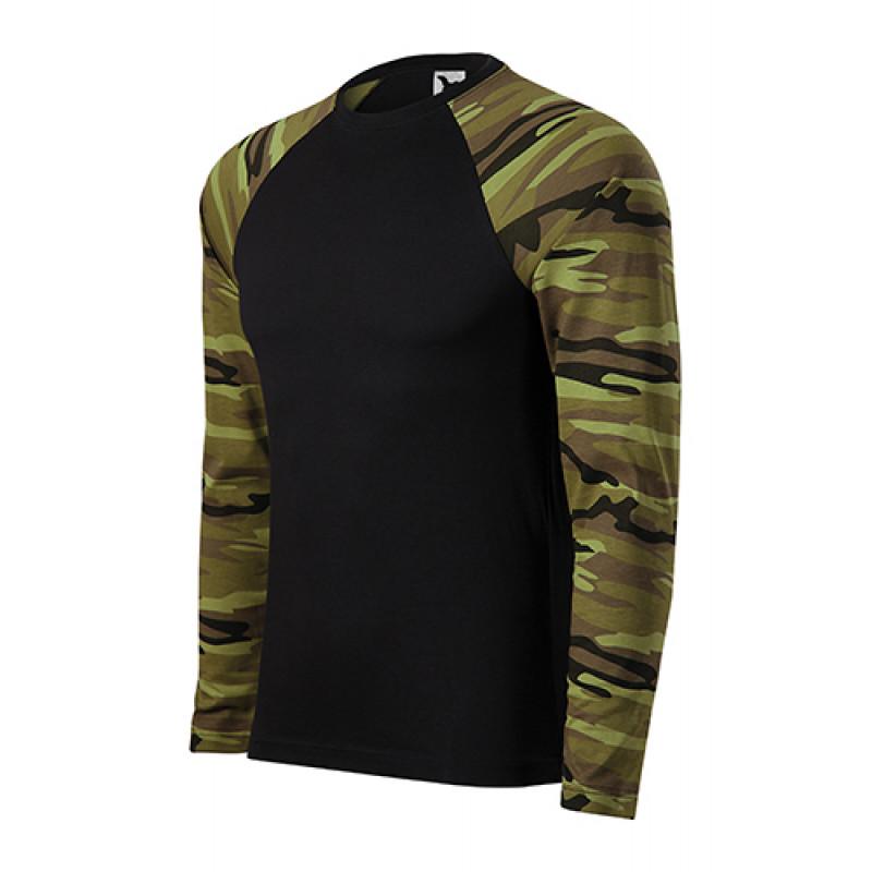 Unisex Tričko CAMOUFLAGE LS zelená