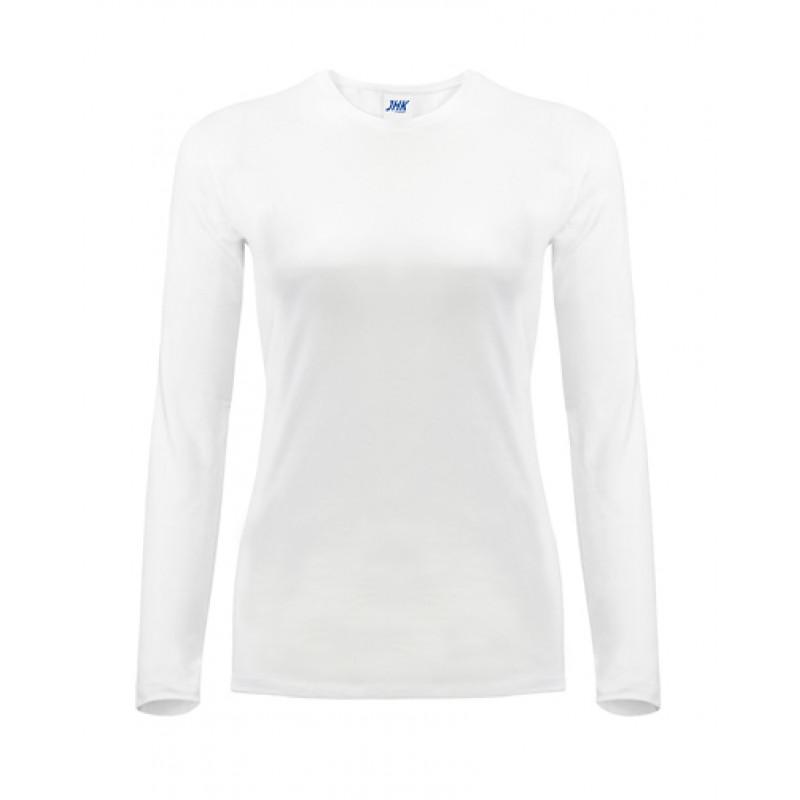 Dámske tričko biele dlhý rukáv
