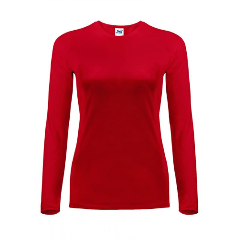 Dámske tričko červené dlhý rukáv