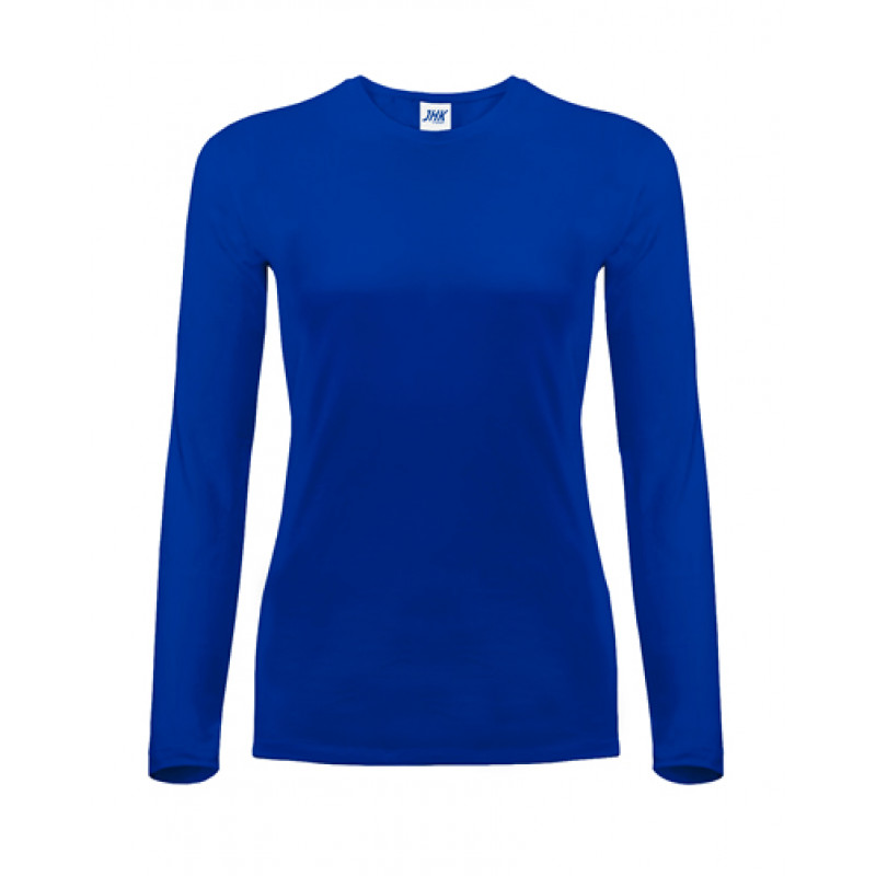 Dámske tričko kráľovká modrá dlhý rukáv