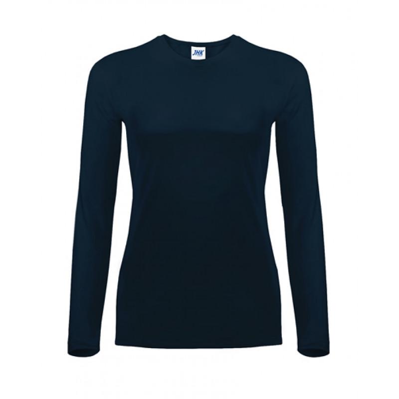 Dámske tričko dlhý rukáv námornícka modrá