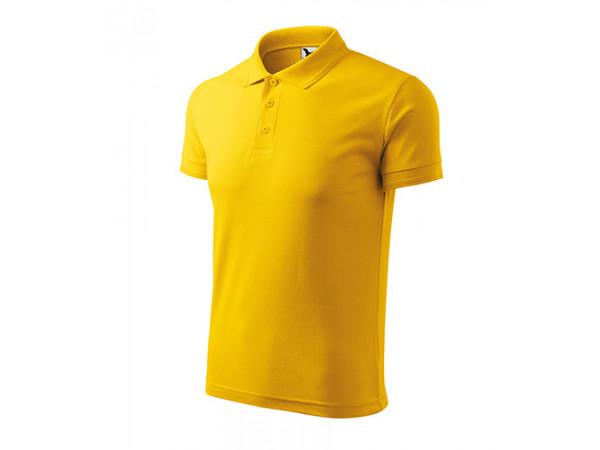 Pánska Pokokošeľa Pique Polo žltá