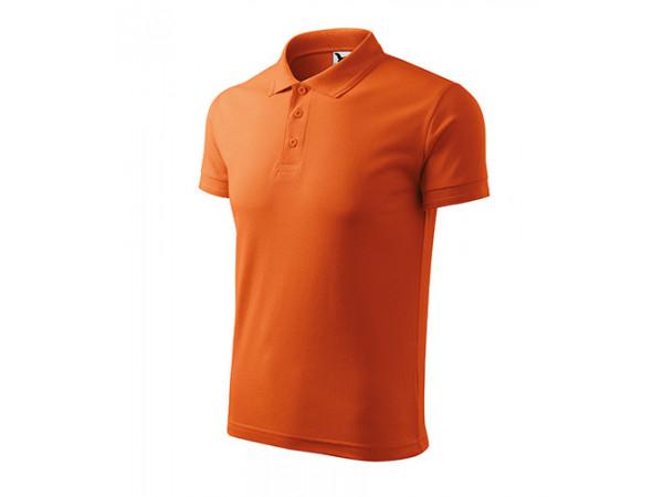 Pánska Pokokošeľa Pique Polo oranžová