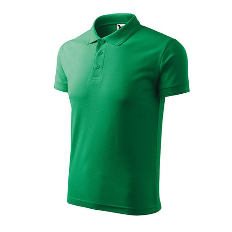 Pánska Pokokošeľa Pique Polo trávová zelená