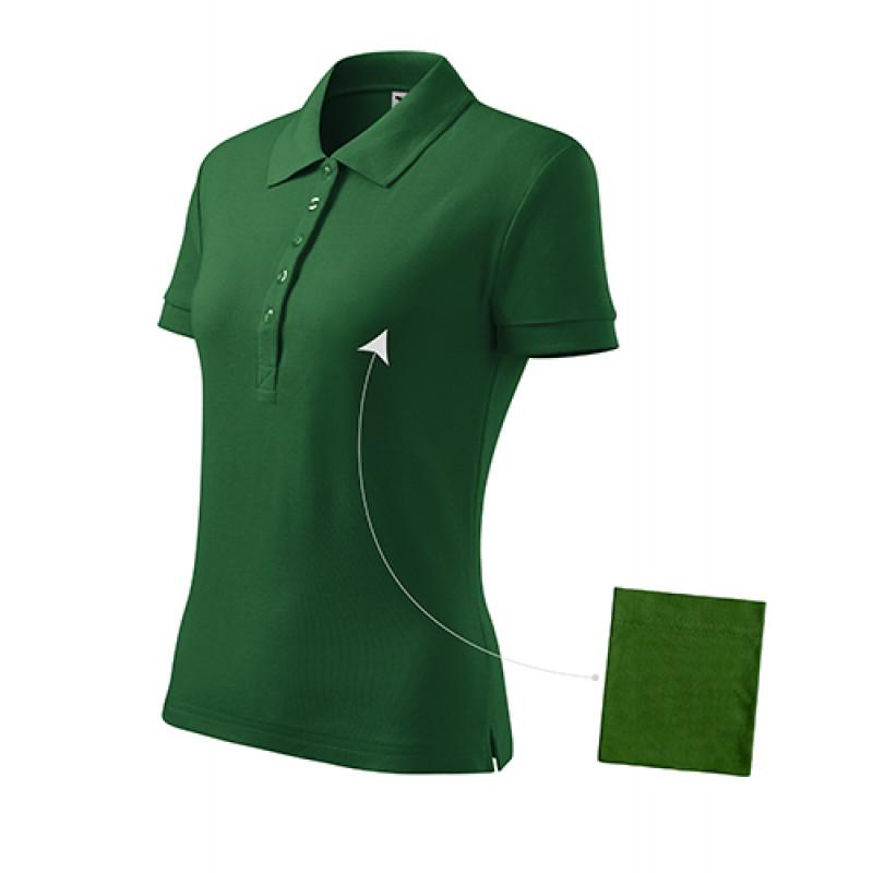 Dámska Polokošeľa Cotton fľaškovo zelená