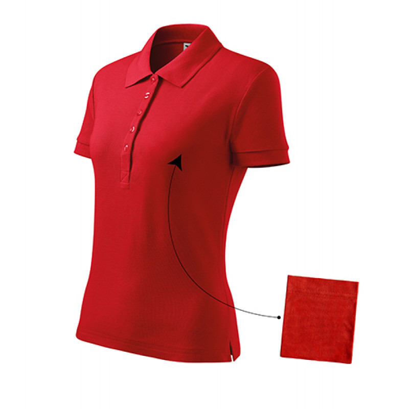 Dámska Polokošeľa Cotton červená