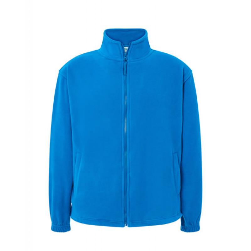 Pánska fleecová mikina aqua modrá