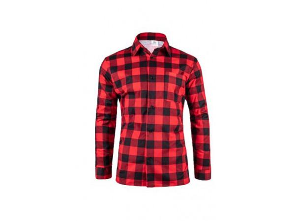 Pánska flanelová košeľa červeno čierna